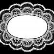 Lace Doily Frame Doodle Vector Illustration Design Element - Stock Vector