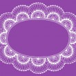 Lace Doily Henna Flower Frame Doodle Vector Border - Stock Vector