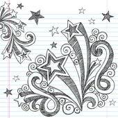 Terug naar school vector schetsmatig notebook doodles designelementen — Stockvector