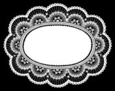 Lace Doily Frame Doodle Vector Illustration Design Element — Stock Vector