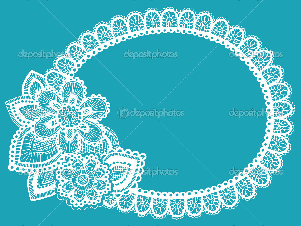 Lace Doily Henna / Mehndi Paisley Flower Doodle Frame Border- Vector Illustration Design Element   Stock Vector #8248649