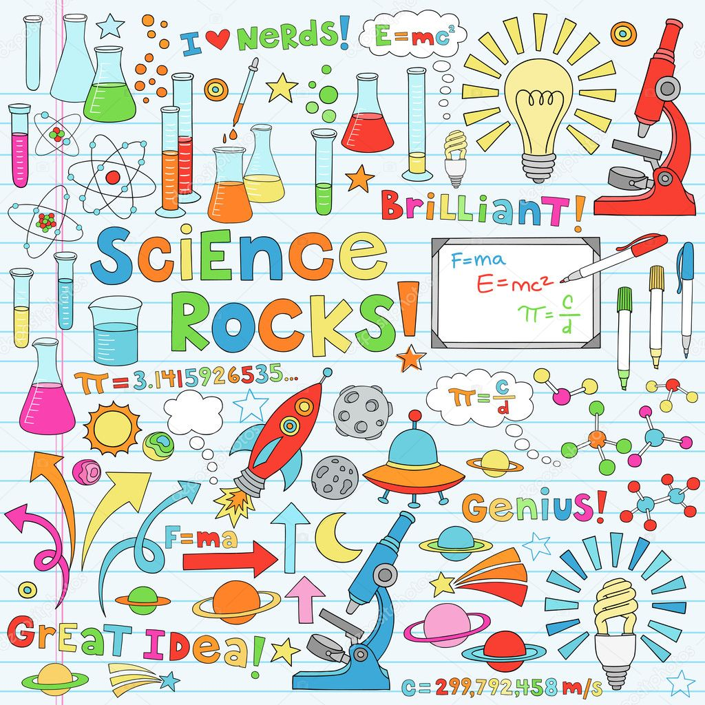 Science Back to School Notebook Doodles Vector Illustration Design Elements  Stock Vector #8325371