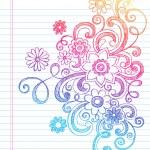 Flower Sketchy Doodles Vector Illustration — Stock Vector