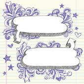 Comic Speech Bubbles Sketchy Doodles Vector — Stock Vector
