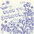 Royalty-Free Stock Vector Image: Back to School Notebook Doodles