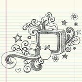 Back to School Lunchbox Doodle — Stock Vector