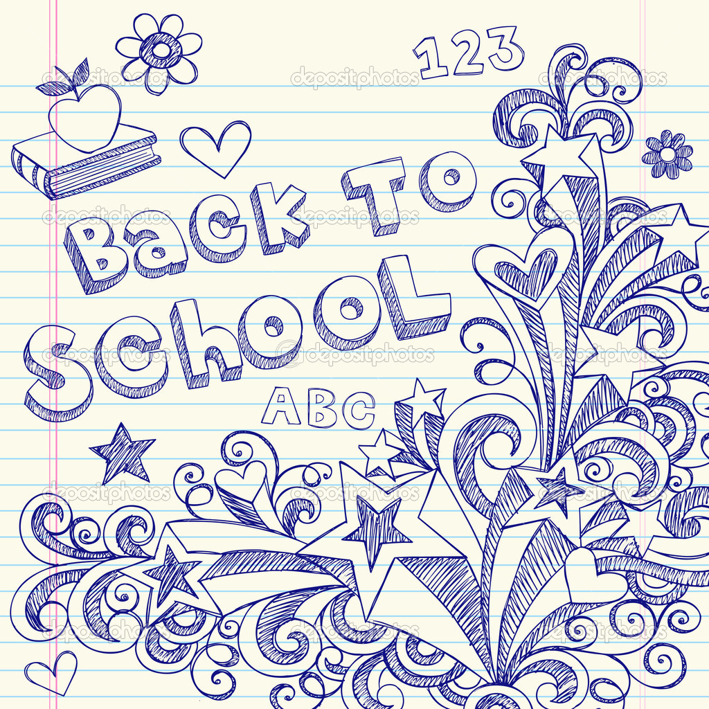 Back to School Notebook Doodles — Stock Vector © blue67 ...