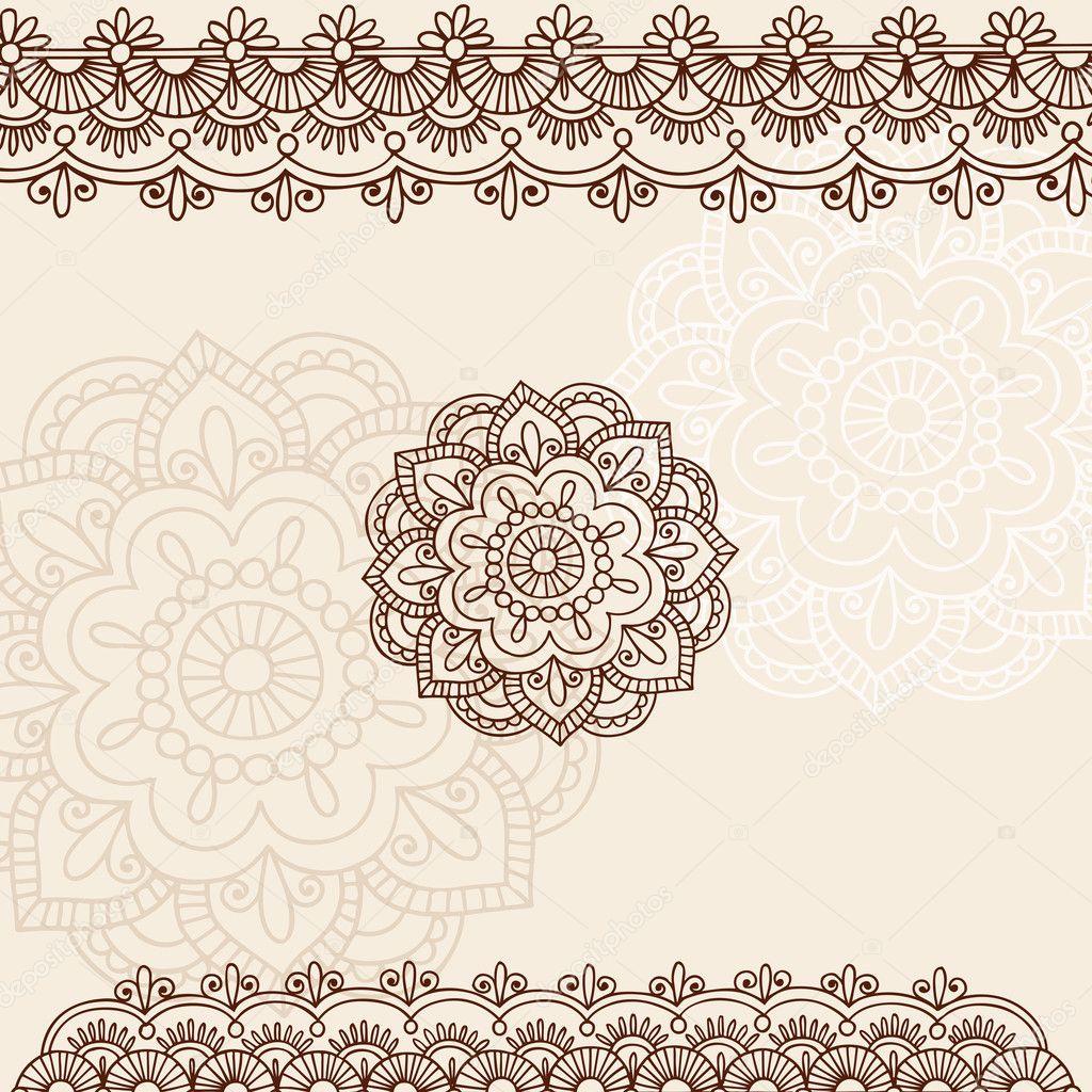Henna Border Tattoo Designs