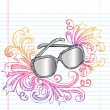 Sunglasses Sketchy Summer Doodle Vector — Stock Vector #8657991