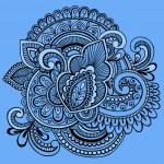 henna tatuaje recargado abstracto doodle vector — Vector de stock  #8680674