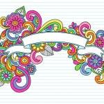 Banner Ribbon Frame Doodles Vector — Stock Vector #8680685