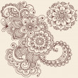 HennMehndi Tattoo Doodles Vector Design Elements — Stock Vector #8693168
