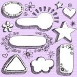 Frames Sketchy Doodle Vector Design Elements — Stock Vector #8693526