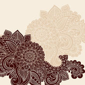 Henna Mehndi Tattoo Doodles Vector Design Elements — Stock Vector
