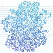 Back to School Paisley Sketchy Doodle Vector — Stock Vector
