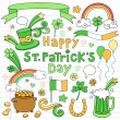 St Patrick's Day Icon Set Vector Design Elements — Stockvektor