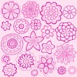 Seamless Repeat Pattern of Delicate Springtime Flowers — Stock Vector