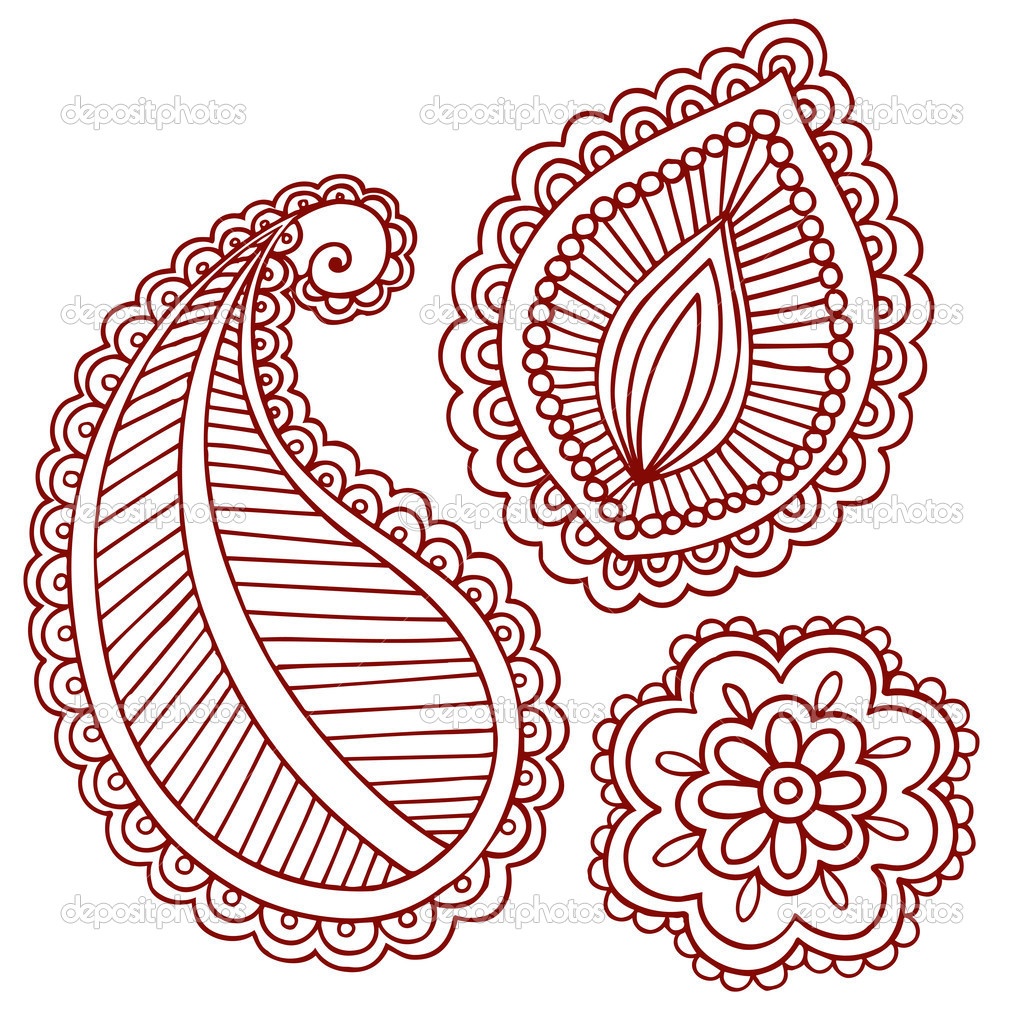индийские рисунки для мехенди