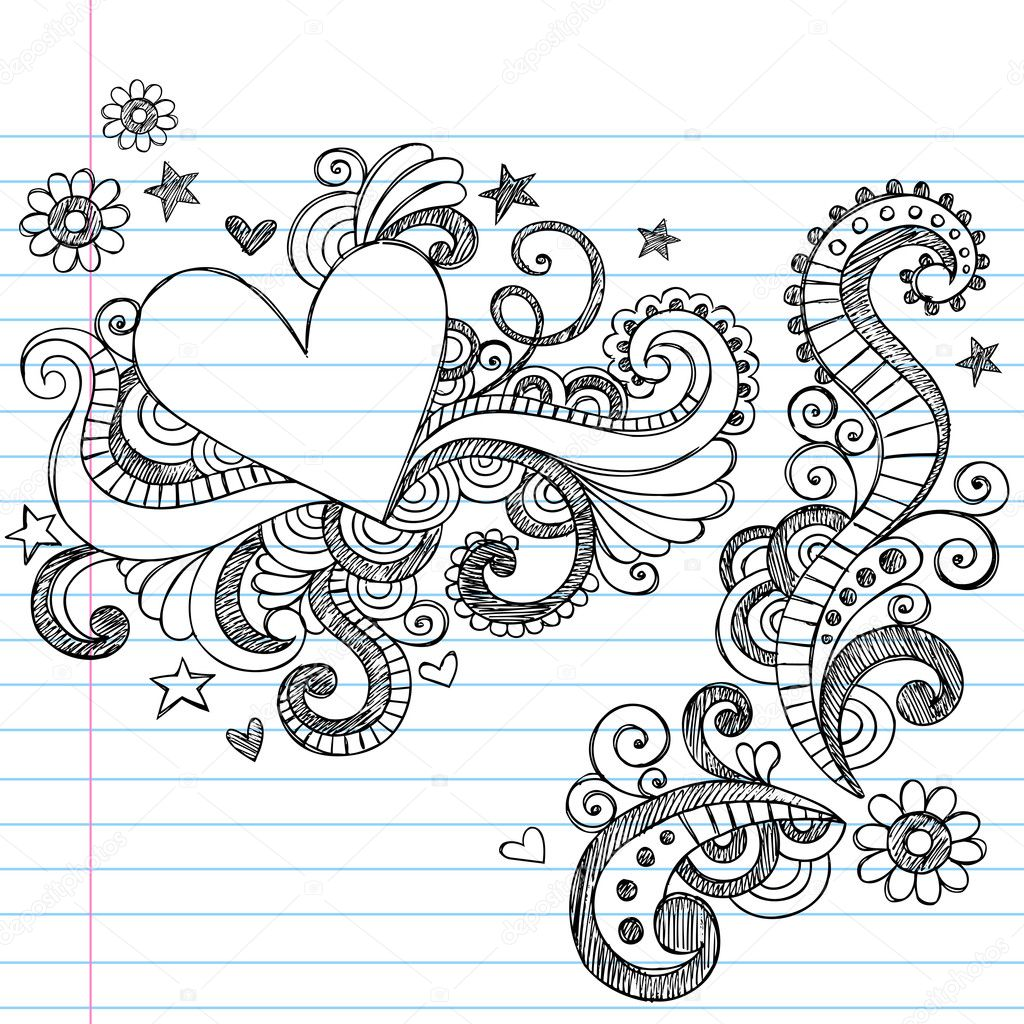 Love Design Drawings Cute Love Heart Drawings