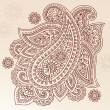 Royalty-Free Stock Vector Image: Henna Paisley Flower Doodle Vector Design Element