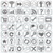 Web Icon Sketchy Doodle Vector Design Elements Set — Stock Vector