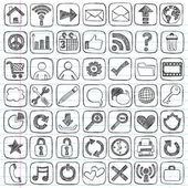 Web Icon Sketchy Doodle Vector Design Elements Set — Stock Vector