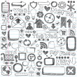 Web Computer Icons Design Elements Sketchy Doodles Vector Set — Imagens vectoriais em stock