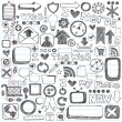Web Computer Icons Design Elements Sketchy Doodles Vector Set — Stock vektor