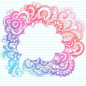 Cloud Speech Bubble Frame Sketchy Doodle Swirls Vector Design — Stock Vector