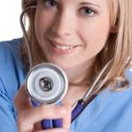 Stethoscope Nurse — Stock Photo
