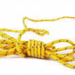 Stockfoto: Yellow rope isolated on white