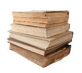 Livres anciens isolés en blanc — Photo