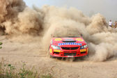 Action, auto, automobile, car, championship, competition, cross, desert, dirt, drift, drive, driver, driving, dust, aleksandrov, saliyk, mitsubishi, subaru, blue, engine, event, extreme, fast, fun, gr — Foto de Stock