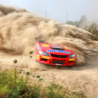 The 5-th stage of the championship of Ukraine Alexandrov Rally - Stock Photo