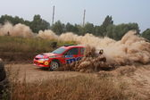 The 5-th stage of the championship of Ukraine Alexandrov Rally — Stock Photo
