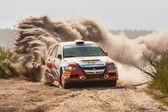 Meisterschaft der ukraine, die rallye kiewer rus — Stockfoto