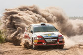 Championship of Ukraine, the rally Kyiv Rus — Stock Photo