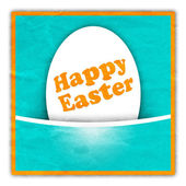 Easter greeting card with egg — Stock Photo