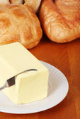 Butter with bread — Stock Photo