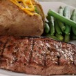 Stock Photo: Closeup barbecue strip loin steak