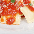 Ravioli with parmesan cheese — Stock Photo