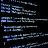 C++ code — Stock Photo