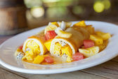 Fruit Crepes — Stock Photo