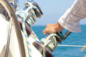 Hand on the Helm — Stock Photo