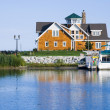 House on the harbor - Stock Photo