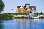 House on the harbor — Stock Photo