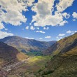 Stock Photo: Village of Pisac and Urubamba River
