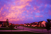 Evening suburbia — Stock Photo