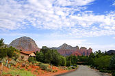 Quiet street in Sedona — Stock Photo
