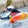 Foto Stock: Kayaker
